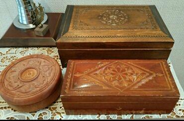 Шкатулки деревянные продаю. Старинные. Большая (1950-е годы) - ручная
