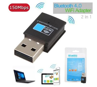 WiFi сетевая Lan Карта+ Bluetooth V4.0 адаптер для настольного