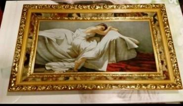 Aнтикварная картина из гобелена . куплена за 550$ продаю за 500 ман