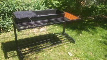Продаётся мангал новый Размеры столика: Дл-136 Шр-53 Выс-72Чаша