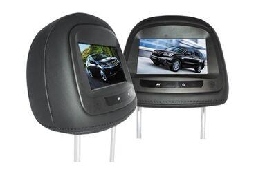 4538 объявлений: Новые универсальные подголовники с монитором . Экран 7 дюймов . Черный