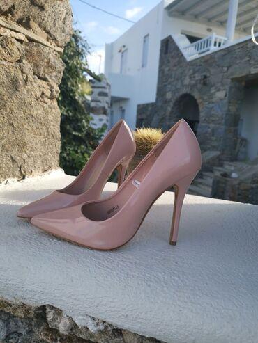 Προσωπικά αντικείμενα - Ελλαδα: Γόβες απαλό ροζ.  Νουμερο 39.5 Υψος:12 εκ