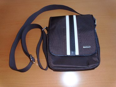 Muška torbica na rame, FALCO,nova,koža/platno, braon,nova,dimenzije - Valjevo