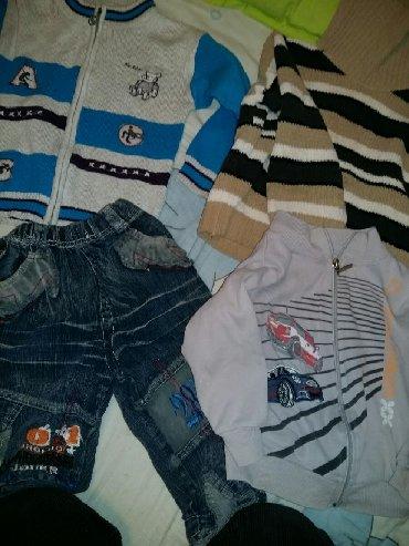 2 кофты - теплая и тонкая, теплый свитер, джинсы на 3 года все за 200