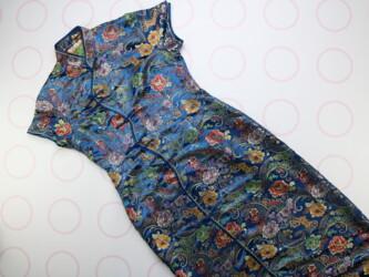 Шикарное лёгкое платья в китайском стиле c натурального шелка, в цвет