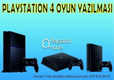 Bakı şəhərində Playstation 4 yaddaşına oyunların yazılması. İstənilən playstation 4