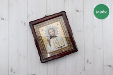 Декор для дома - Украина: Ікона з камнями Сваровськи, вишита бісером   Висота: 27 см Ширина: 24