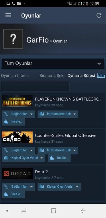 Bakı şəhərində Steam hesabi Pubg,Cs go prime var icinde.Tecili satilir