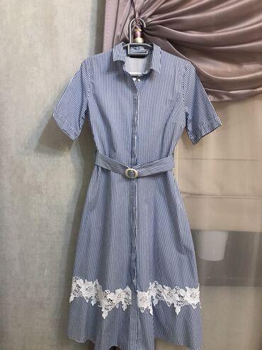 платье миди в полоску в Кыргызстан: Платье Свободного кроя Lc Waikiki M