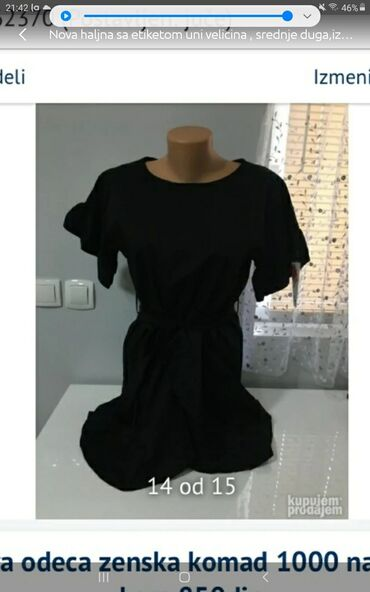 Nova haljna sa etiketom uni velicina srednje duga,iz italije