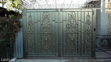 Изготовление ворот с эксклюзивными коваными узорами. в Бишкек