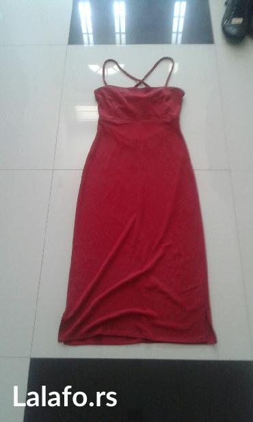 haljina stoji idealno crvena boja velicina s m - Backa Palanka