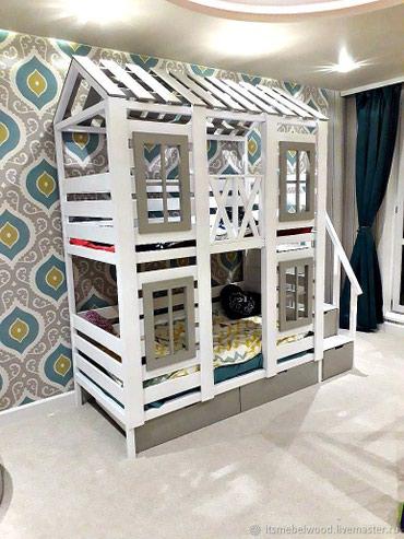 """Двухъярусный кровать """" Вавилон """" , размер 190/80см + артапед матрас , в Кок-Ой"""