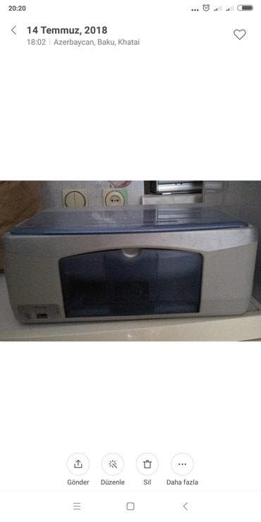 Bakı şəhərində Printer, təzədir, rənglidir, mürəkkəbi quruyub, 50 man