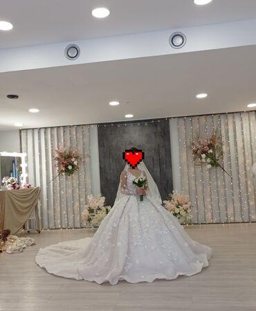 Свадебные фужеры - Кыргызстан: Прокат свадебного платья .   Фата Шубка