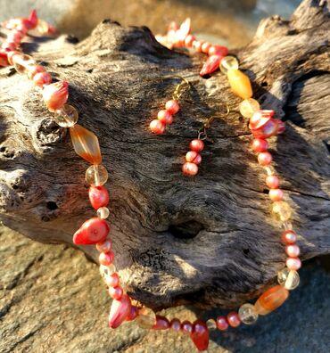 Υπηρεσίες - Ελλαδα: Σετ Χειροποίητα Κολιέ-Σκουλαρίκια από αυθεντικά Μαργαριτάρια του