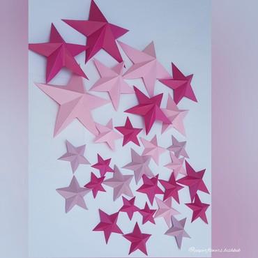 декор бишкек цены в Кыргызстан: Объёмные звёзды.Декор .Бумажные цветы .Фотозоны.Цветы из бумаги