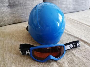 Rukavice za skijanje - Beograd: Dečija kaciga i naočare za skijanje