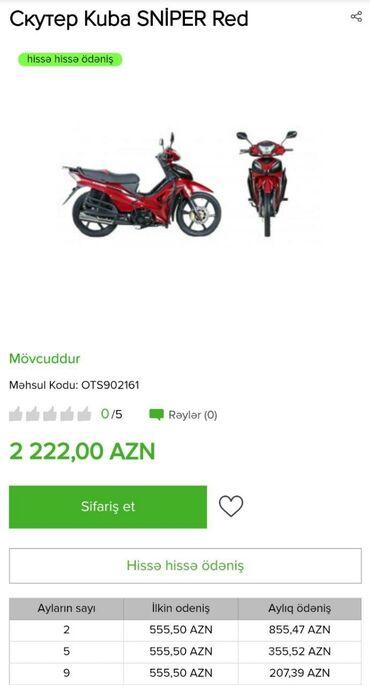 Motosiklet və mopedlər Azərbaycanda: Kreditle mopedler Benzinle iwleyir50KubNomre teleb olunmurSuruculuk