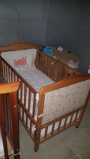 Детская кровать с матрасом +люлька. в Бишкек