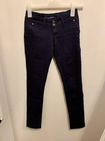 poslovne pantalone u Srbija: Teget Denistar pantalone 27 velicina, Sa elastinom uz nogu, poslovne