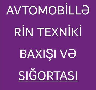 Digər xidmətlər - Azərbaycan: Online heçyerə getmədən avtomobillərinizi sigortalaya və texniki baxış