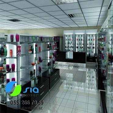konteynerdən mağaza - Azərbaycan: Mağazin vitrin mebellərini sifariş