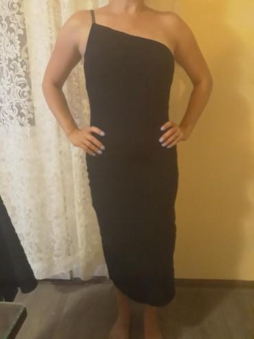 Ženska odeća | Zlatibor: Svecana crna haljina koja prati liniju tela,jednom obucena za svecanu