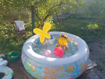 газонокосилка электрическая bosch в Кыргызстан: Продаются Надувной бассейн и электронасос- Круглый надувной бассейн