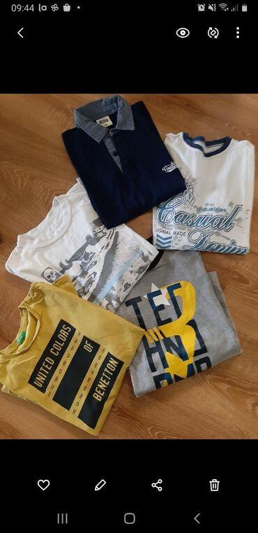 Dečija odeća i obuća - Barajevo: 5 majica dugacak rukav,ocuvane,za decaka od 10,11 godina. Cena paketa