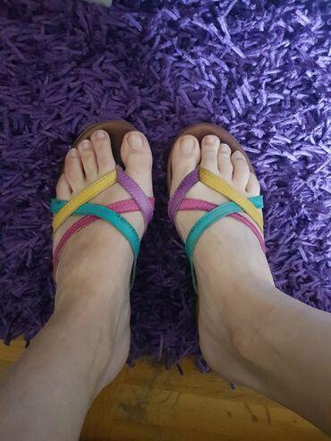 Sandale od ciste koze 37 broj. Preudobne