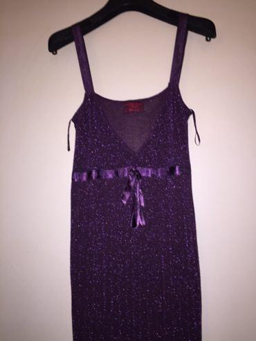 Μώβ μεταλιζέ μίνι φόρεμα λεπτό knit με σε Rest of Attica