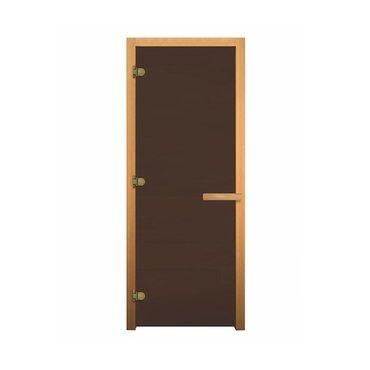 Дверь стеклянная НК бронза матовая 1900х700мм (8мм, 3 петли 716 GB)