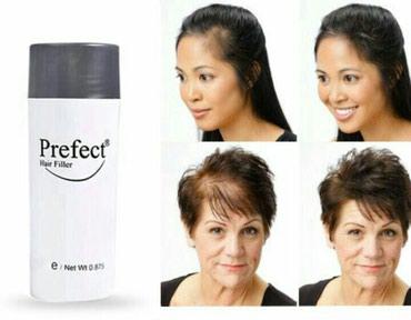 Bakı şəhərində Perefect saç tozu. Seyrək saçlara son. Əsil saç effekti yaradaraq
