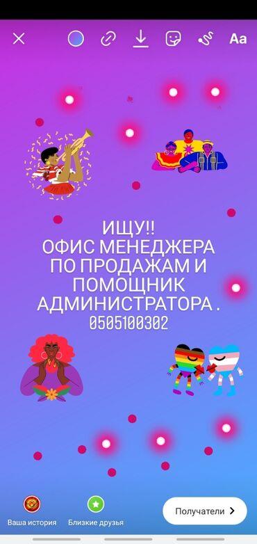 Старший системный администратор - Кыргызстан: Менеджер по продажам. С опытом. 5/2