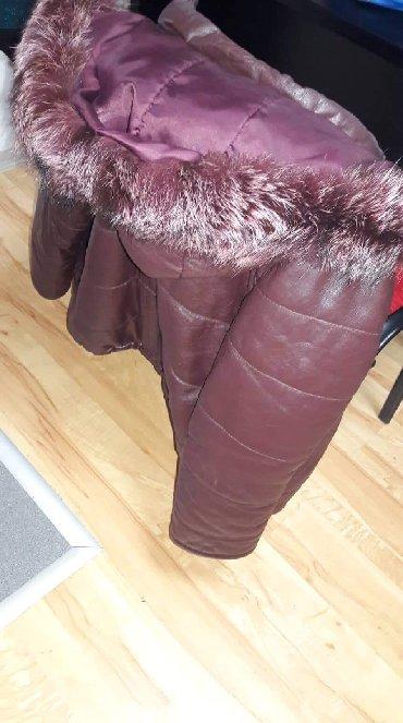 Zimske jakne modeli - Srbija: Zimska kozna jakna sa pravim krznom. Deblja, malo punjena, prava koza