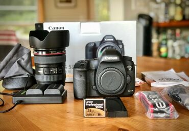Canon EOS 5D Mark III Strap, BL-5DIII, Battery Charger, Field Guide, L