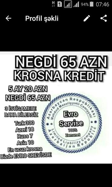 Bakı şəhərində Krosna krosnu negd ve kreditle satisı