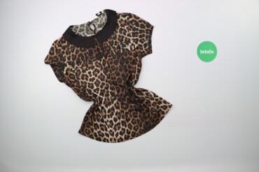 Жіноча блуза з коміром в леопардовий принт New Look, p. M    Довжина