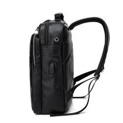 сумку школьную в Кыргызстан: Мужской кожаный рюкзак (экокожа) +БЕСПЛАТНАЯ ДОСТАВКА ПО КР (артикул
