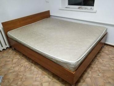 Кровать 155 на 190 Матрас ортопедический металлические ножки  Хорошее