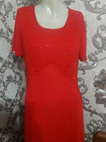 длинное красное платье с разрезом в Кыргызстан: Длиное красное платье верх обшит бисером хорошего качества! брали за