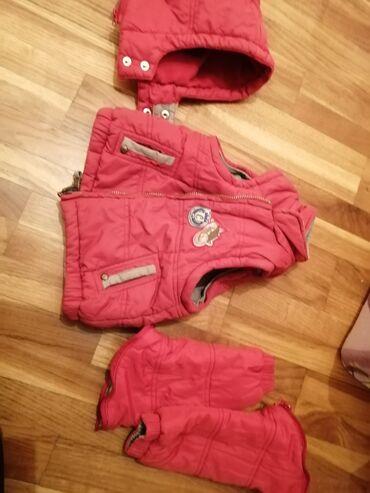 Dečija odeća i obuća - Cacak: Chicco jakna za bebu decaka, velicina 74. Sa 2 lica. Skidaju se