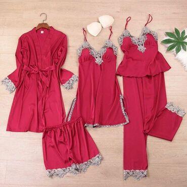 Домашние костюмы - Кыргызстан: Пижама 5 в 1Качество люкс в наличииматериал : шёлк размер : стандарт