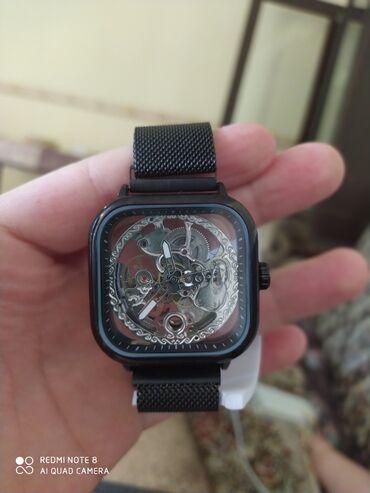 Esil dəbli bəylər üçün brend saat mexanik fosfor gümüş işləmə sayları