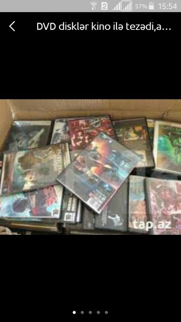 Bakı şəhərində DVD disklər tezədirlər,hər zövqə görə filmlər var(1-2-3-5)manata