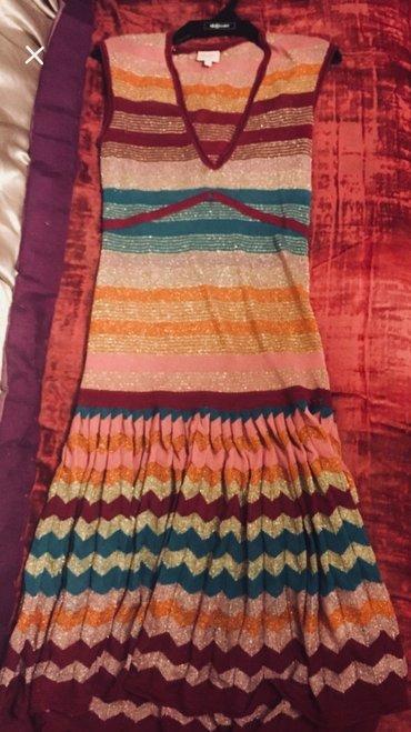 Платье красочное б/у 40-42 размер в Бишкек