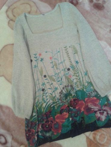Платье размер 38-40, хорошего качество + брюки джинсовые в подарок ) в Бишкек