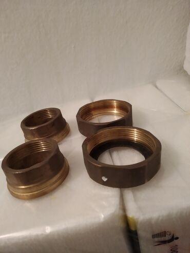 Гайки бронзовые с кольцами,на стандартный электронасос отопления.за