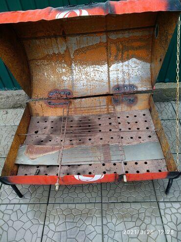продам коптильню в Кыргызстан: Продам 3в одном,мангал, барбекю, коптильня
